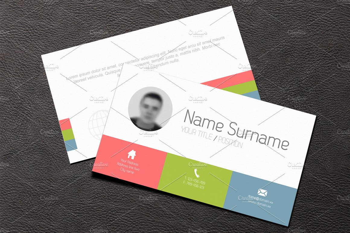 Business card template flat design business card templates business card template flat design business card templates creative market colourmoves