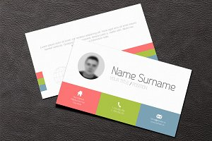 Business Card Template (flat design)