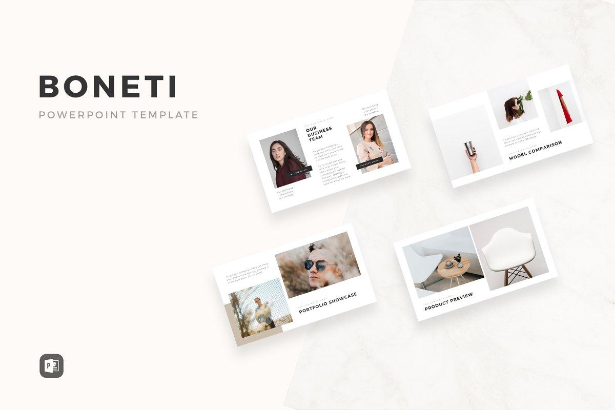 Boneti Minimalist Powerpoint Powerpoint Templates