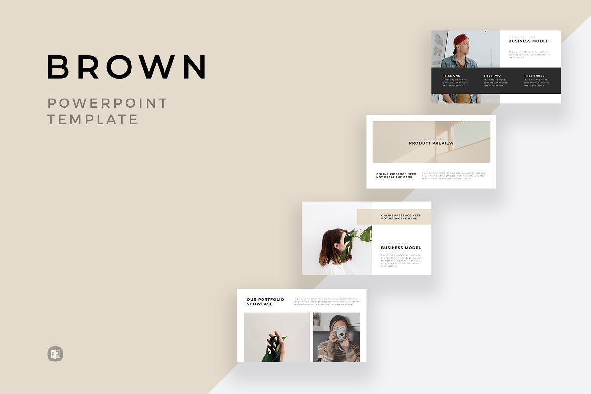 Brown Minimal Powerpoint Template Powerpoint Templates