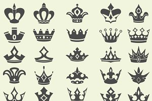 Vintage crowns collection