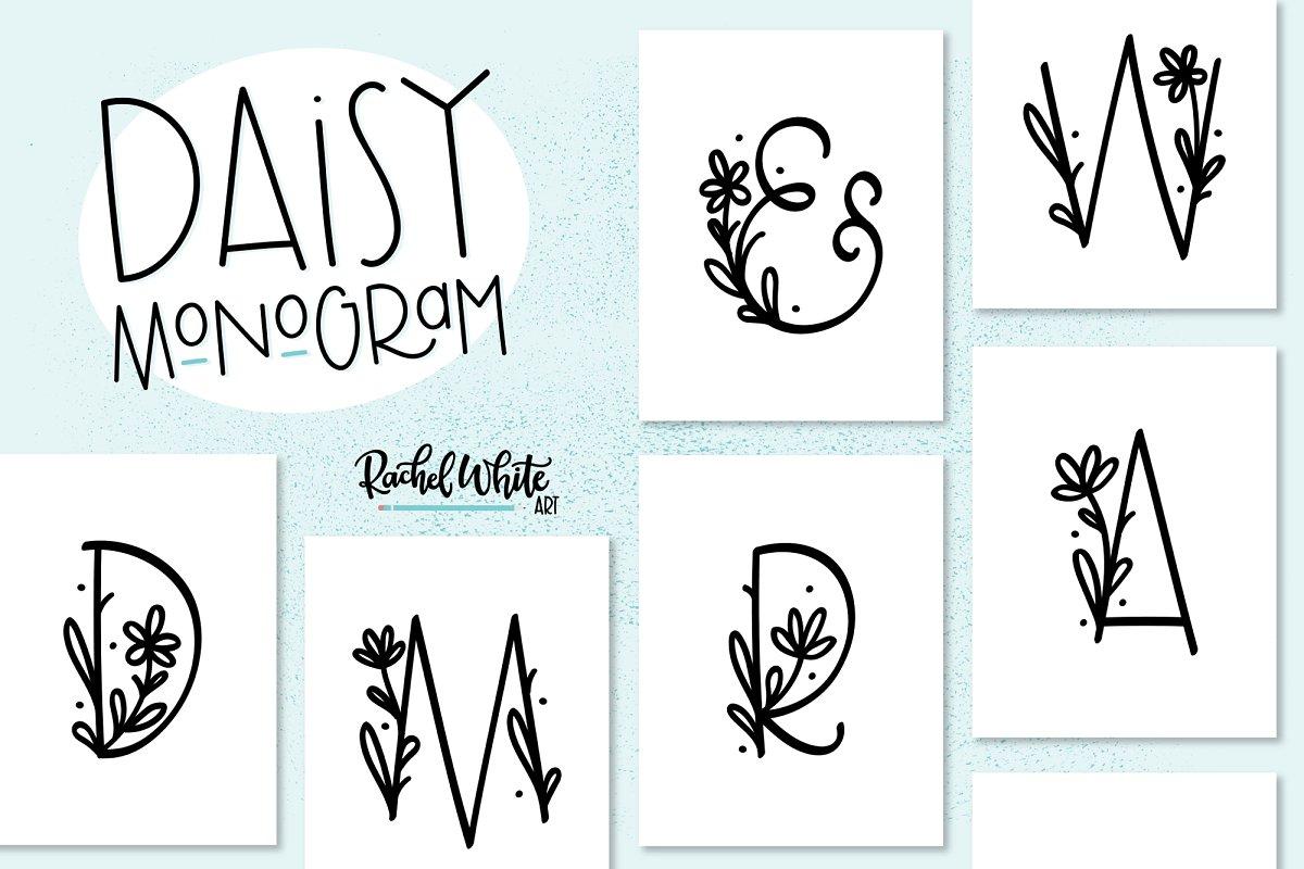 Daisy Monogram Font