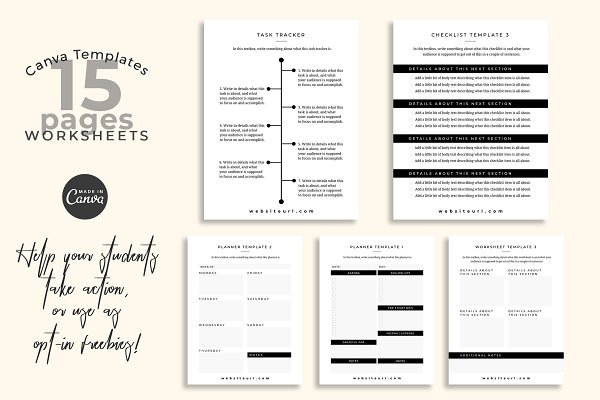 Workbook Canva Templates (Montana)