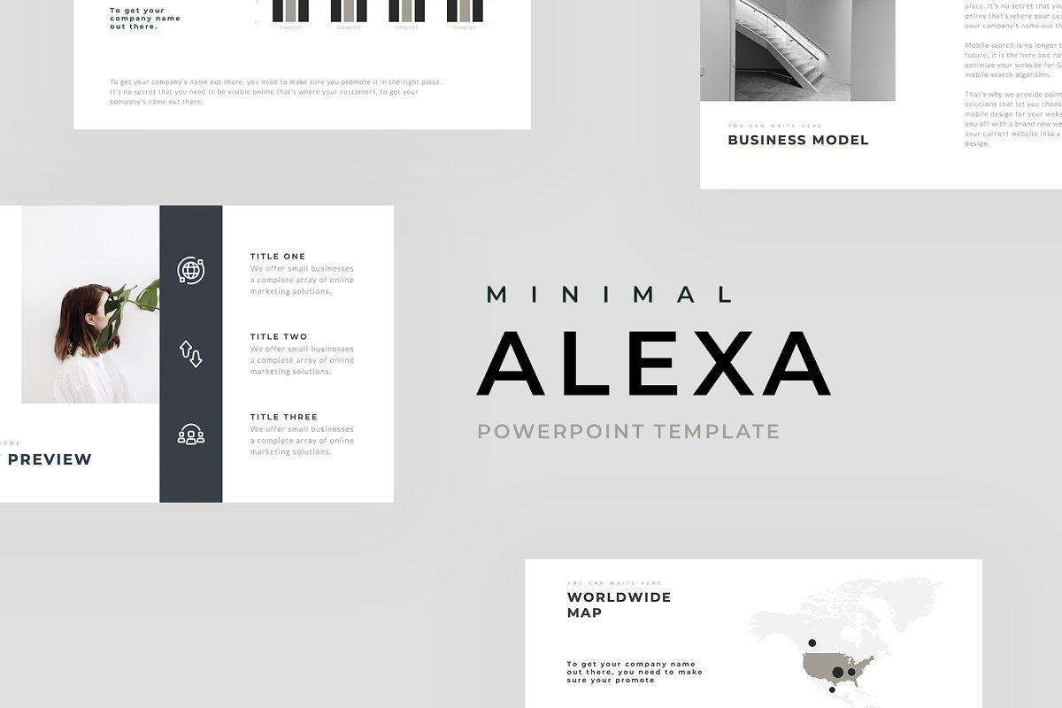 Alexa Minimal Powerpoint Template Powerpoint Templates