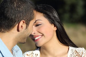 Arab casual couple flirting ready to kiss with love.jpg