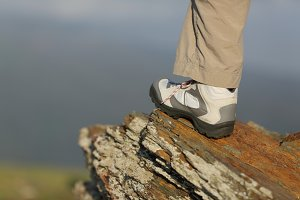 Hiker boot in the mountain.jpg