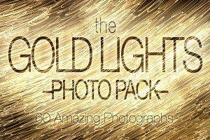 Gold Lights Photo Pack