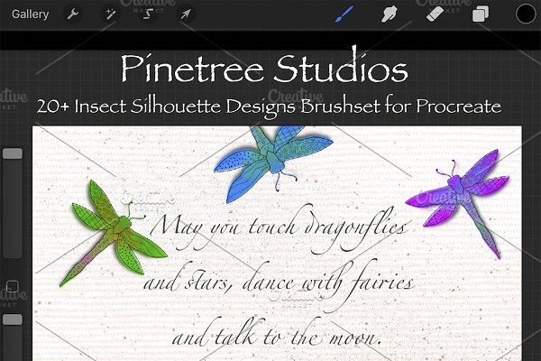 Procreate Insect Silhouette Stamps