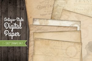 7 Old Paper Background - Vintage