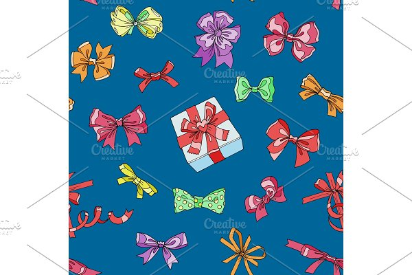 Bow vector bowknot or ribbon for