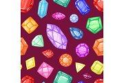 Diamond vector gem and precious