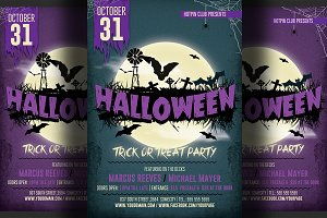 Halloween Party Flyer 2 DOLLARS ONLY