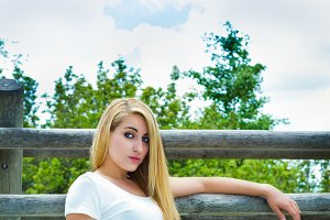 model girl in the park(vertical)