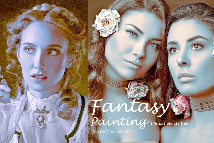 Fantasy Painting Photoshop Action