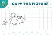 Copy picture vector illustration