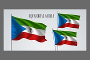 Equatorial Guinea flags vector