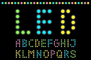 LED bulb Alphabet