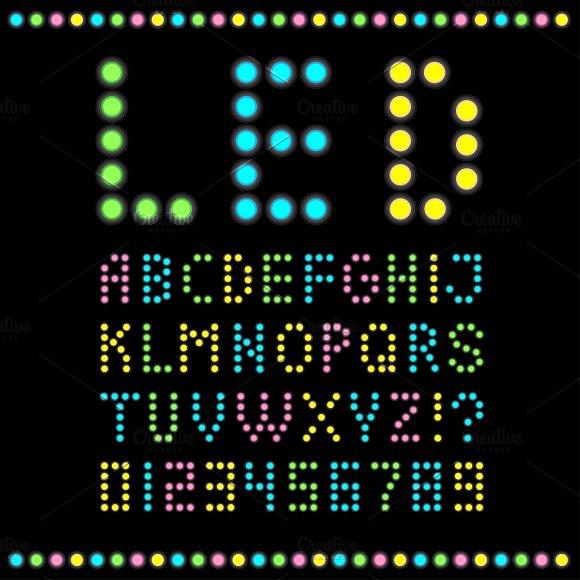 Led Bulb Alphabet Symbol Fonts Creative Market
