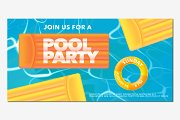 Pool party background vector