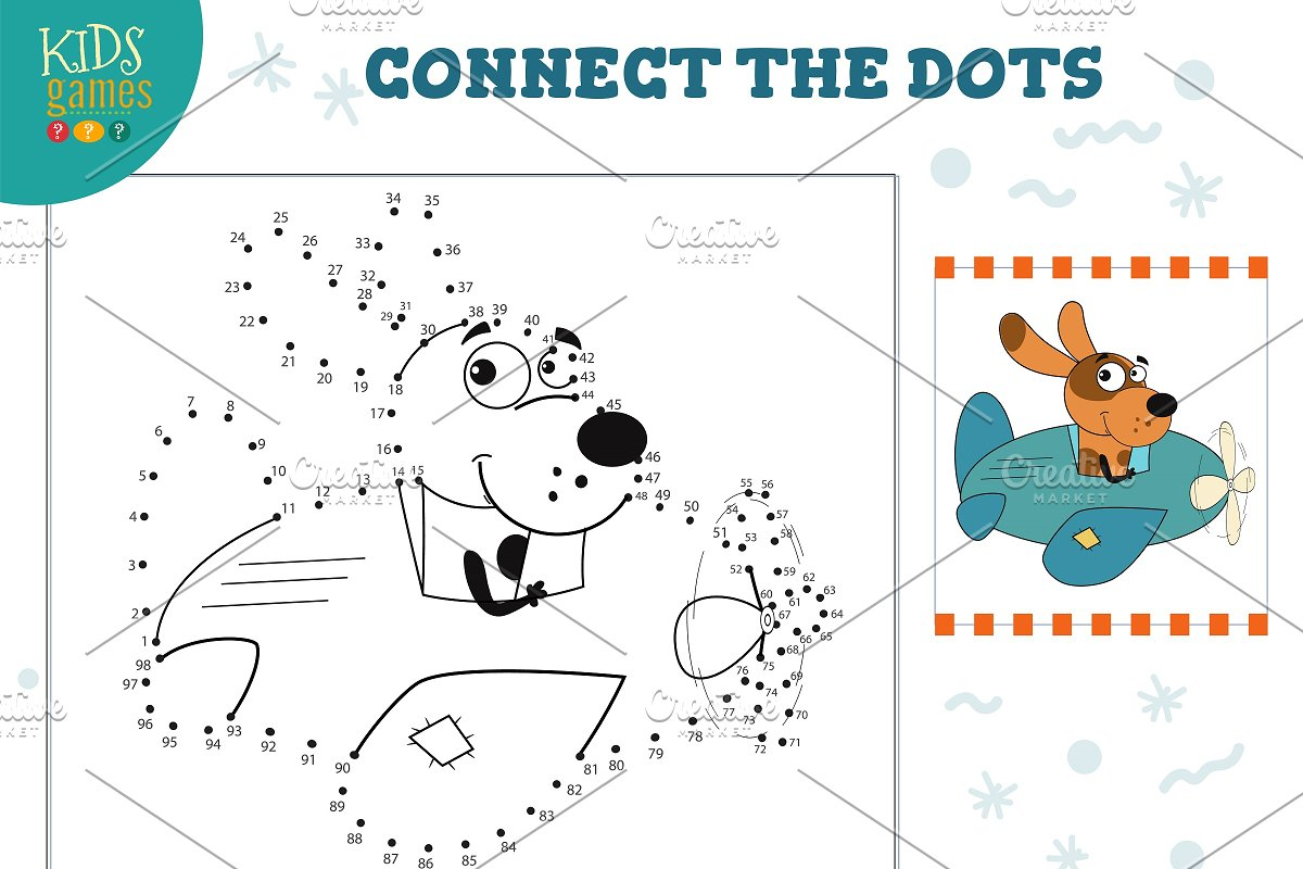 Connect the dots kids game vector in Illustrations - product preview 8