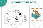 Connect the dots kids game vector