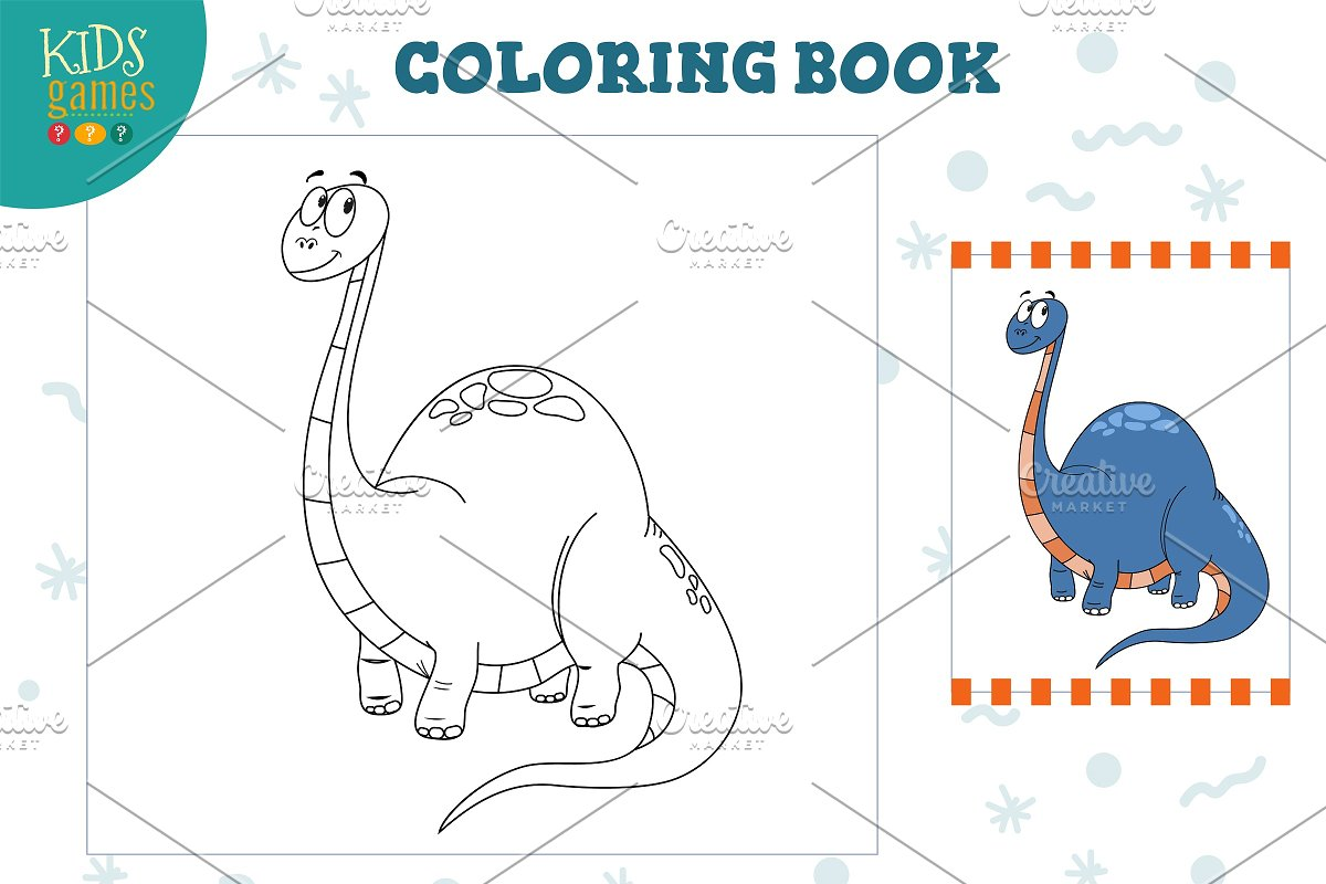 Coloring book, blank page vector in Illustrations - product preview 8