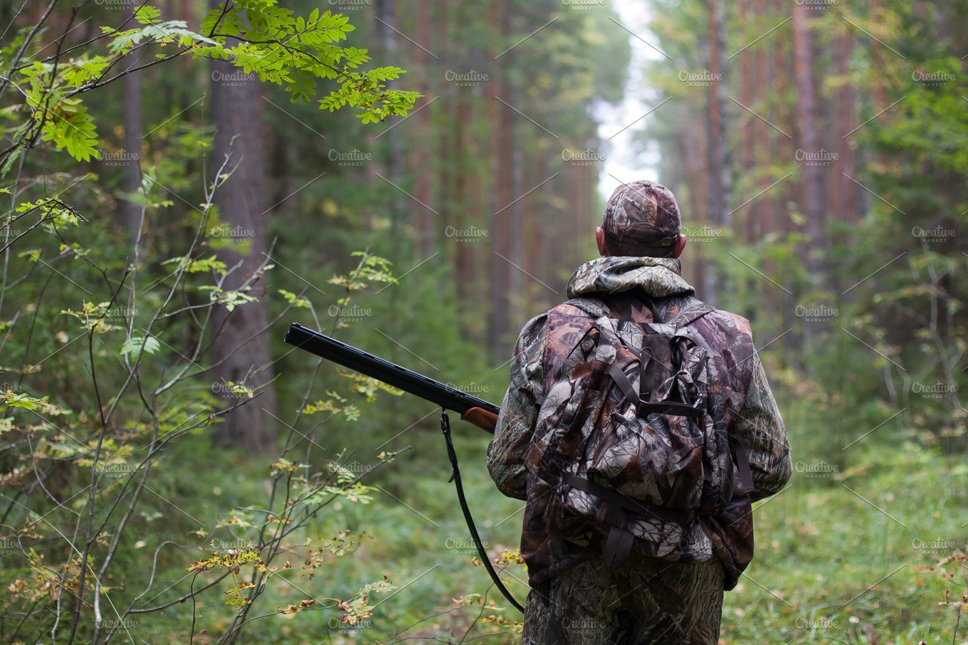 Hunter in the forest featuring hunter, hunting, and walking | High-Quality  Sports Stock Photos ~ Creative Market