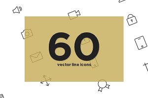 60 vector line icons
