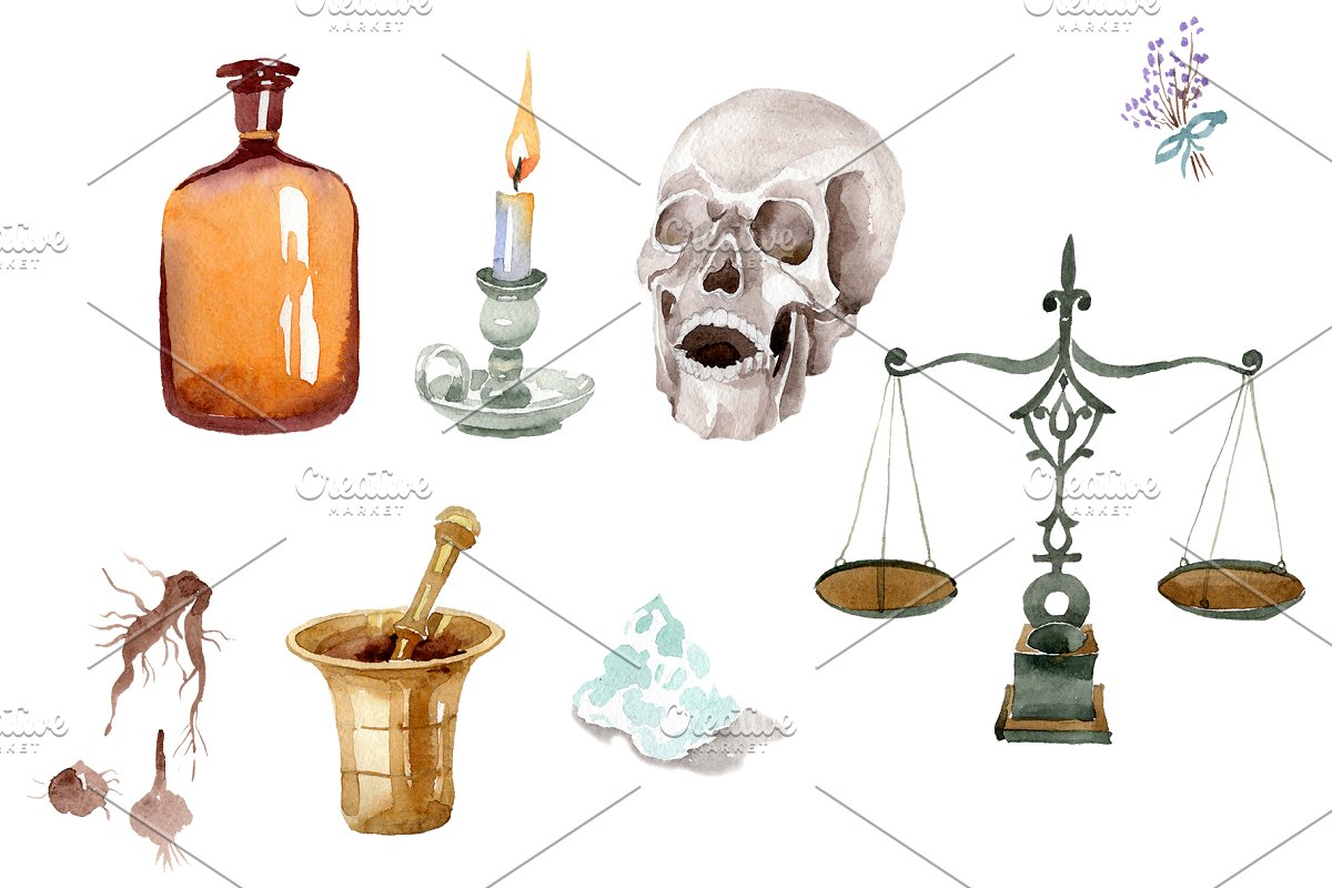 Pharmacy (devices) watercolor png in Illustrations - product preview 8
