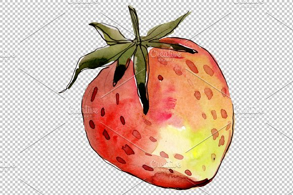 Strawberry Queen Elizabeth watercor in Illustrations - product preview 2