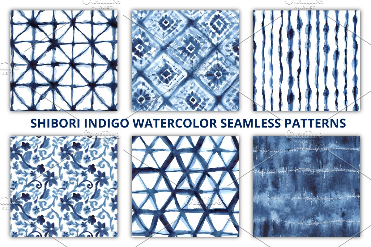 Shibori Seamless Patterns in Patterns - product preview 8