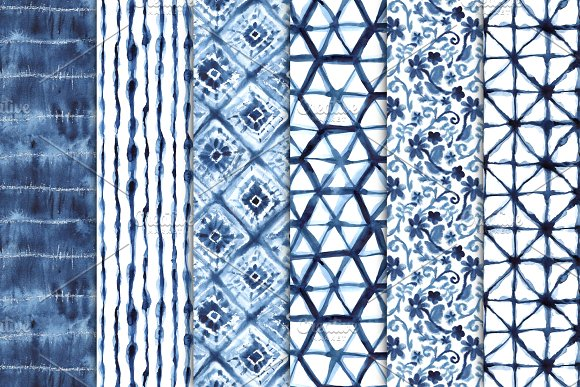 Shibori Seamless Patterns in Patterns - product preview 1