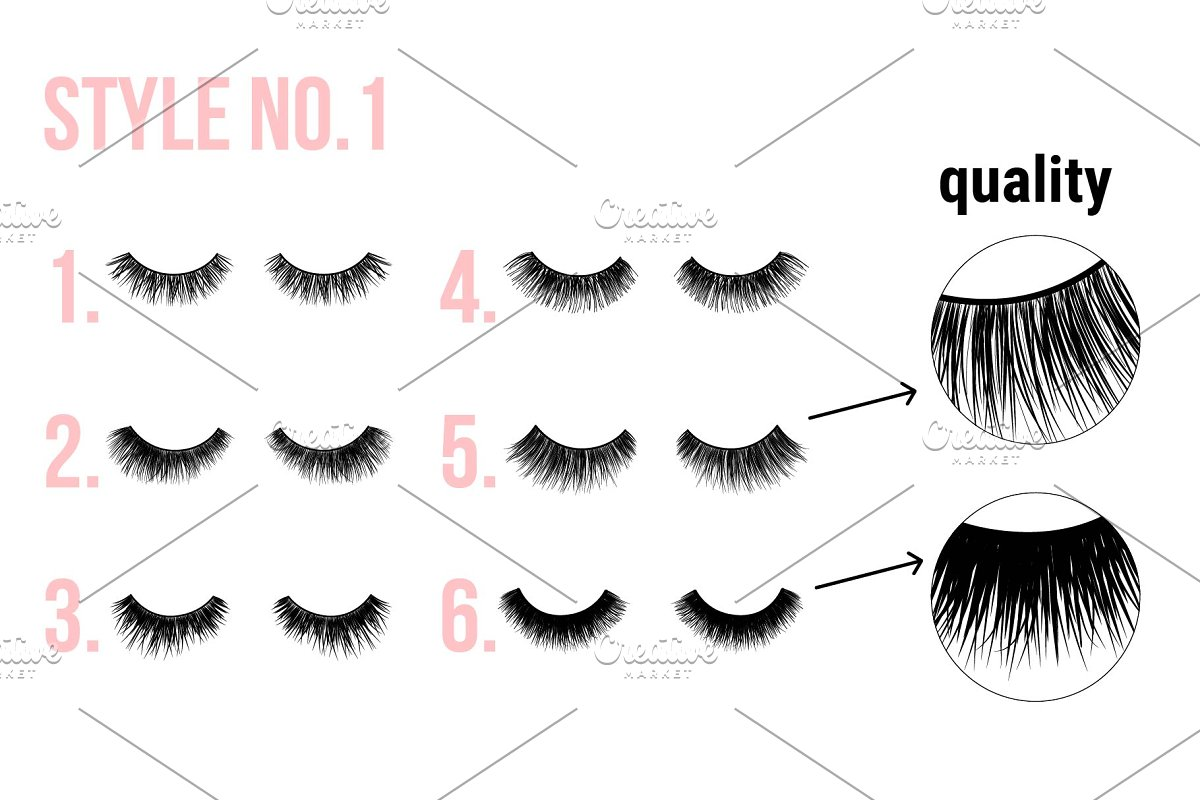EYE LASHES icon logo clipart in Graphics - product preview 8