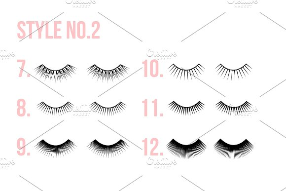EYE LASHES icon logo clipart in Graphics - product preview 1