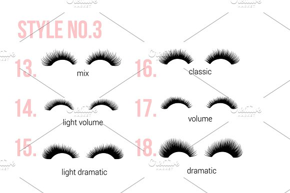 EYE LASHES icon logo clipart in Graphics - product preview 2