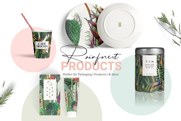 Rainforest Tropical Pattern set! in Patterns - product preview 4
