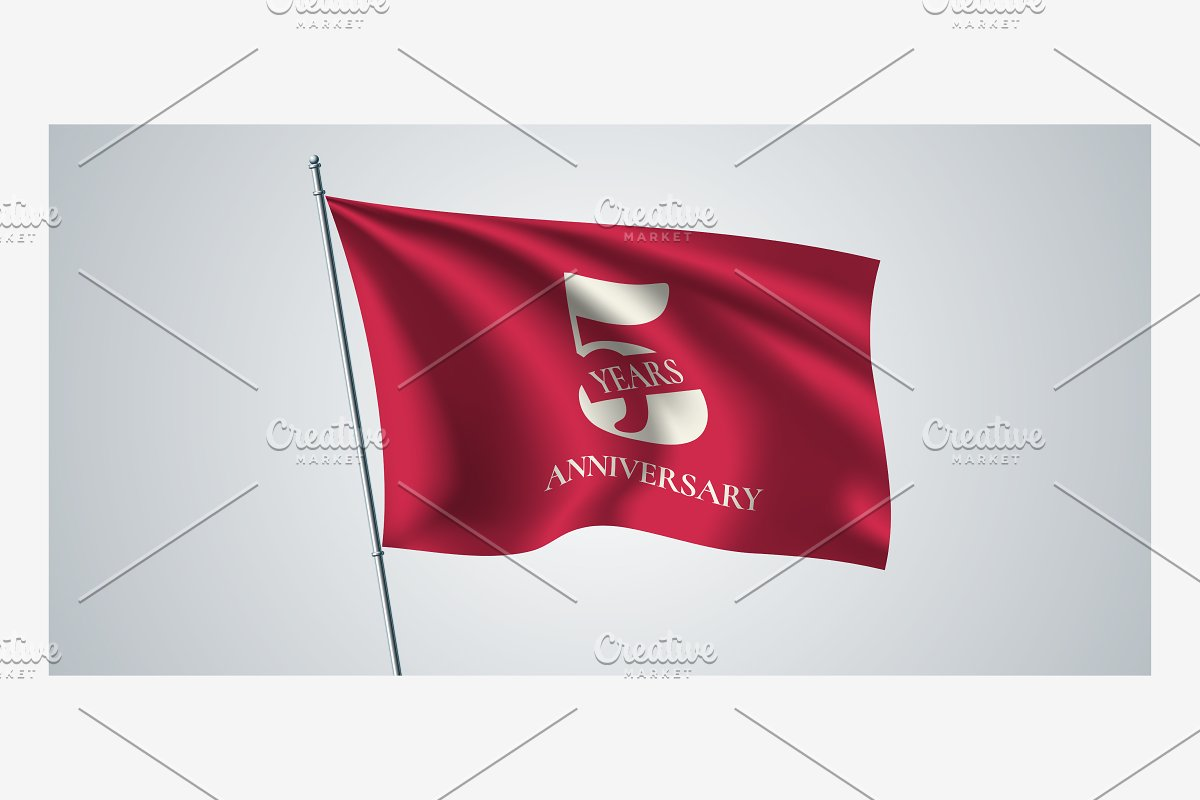 5 years anniversary vector icon in Illustrations - product preview 8
