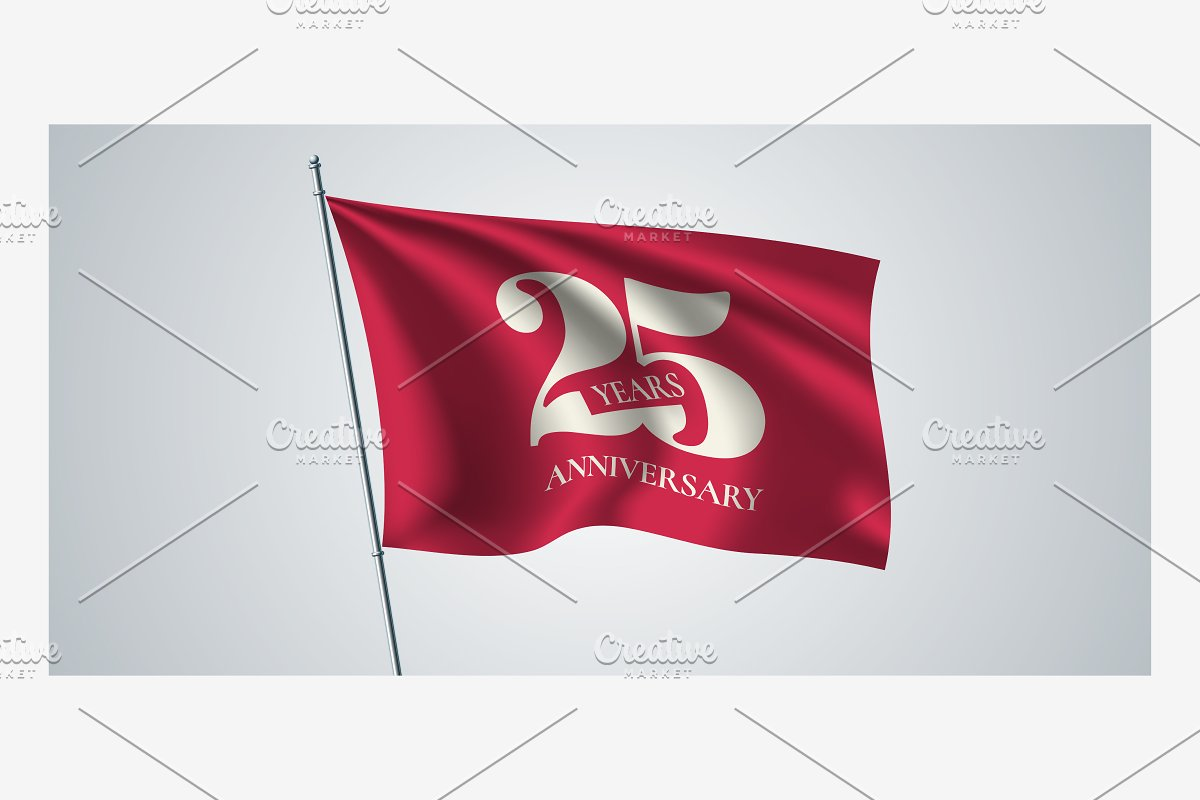 25 years anniversary vector icon in Illustrations - product preview 8