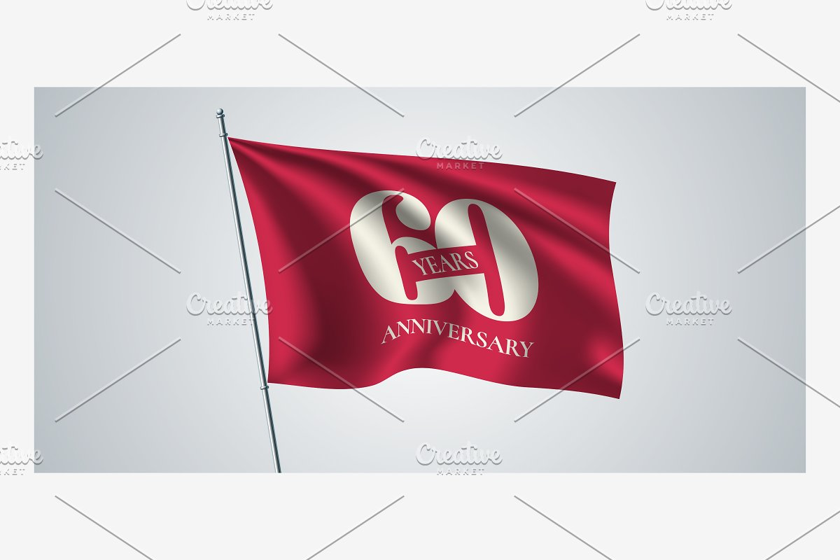 60 years anniversary vector icon in Illustrations - product preview 8