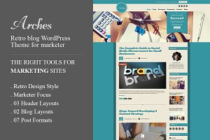 Arches Retro Blog Marketing WP Theme