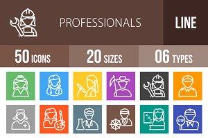 50 Professionals Line Multicolor