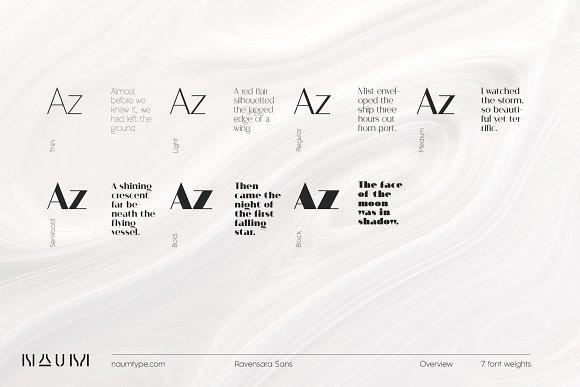 Ravensara Sans | 7 fonts