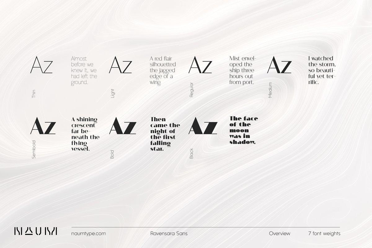 Ravensara Sans | 7 fonts ~ Sans Serif Fonts ~ Creative Market
