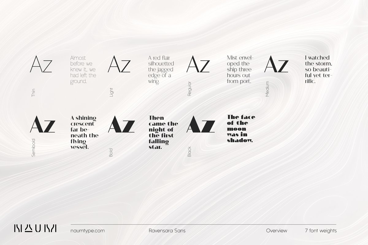 Ravensara Sans   7 fonts in Professional Fonts - product preview 1