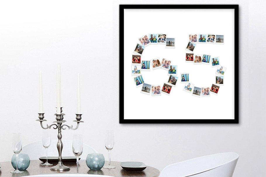 sixty five photo collage template