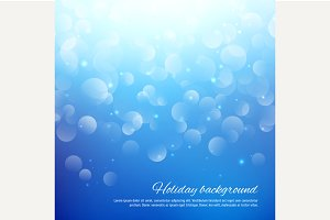 Blue abstract background with bokeh