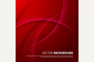 Red abstract background with shadows