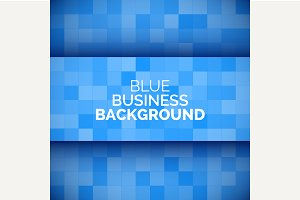 Abstract 3D business blue background