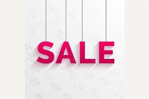 Sale tag illustration. Flat style