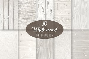 10 White Wood Backgrounds